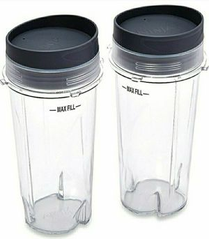 Ninja XWP002CS Single Serve Cups with Lids, Clear, 16-Ounce for Sale in Norwich, NY