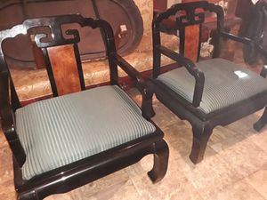 Large size rare Asian black lacquer twin living room gossip tears these are rare asking 640 delivered or best offer for Sale in Houston, TX