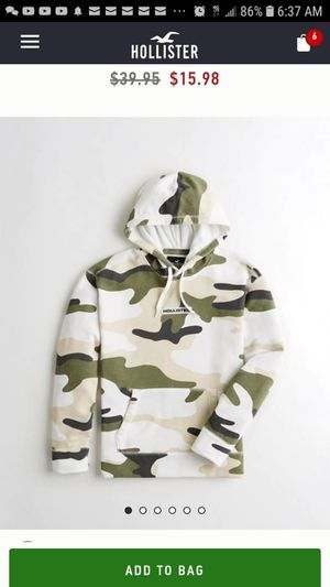 New Mens Hollister Camo Hoodie for Sale in Salinas, CA