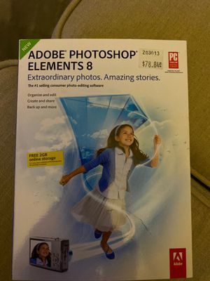 Adobe photoshop elements 8 for Sale in Carlsbad, CA