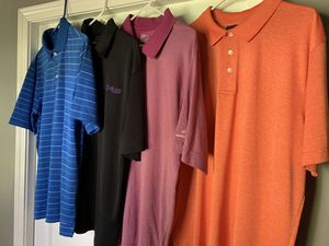 Golf shirts (4) size L for Sale in Cadwell, GA