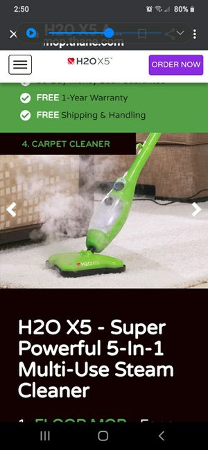 THANE H2O X5 STEAM CLEAN MOP for Sale in Pittston, PA