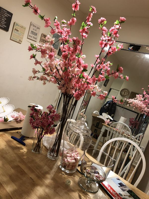 Cherry blossoms for sale take all for $200 but no glass will not go with the deal