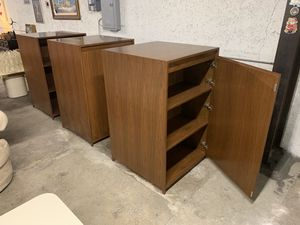 Giant Mid Century Storage Cabinet Double Sided - Unique Storage Solution $500 each for Sale in Glendale, CA