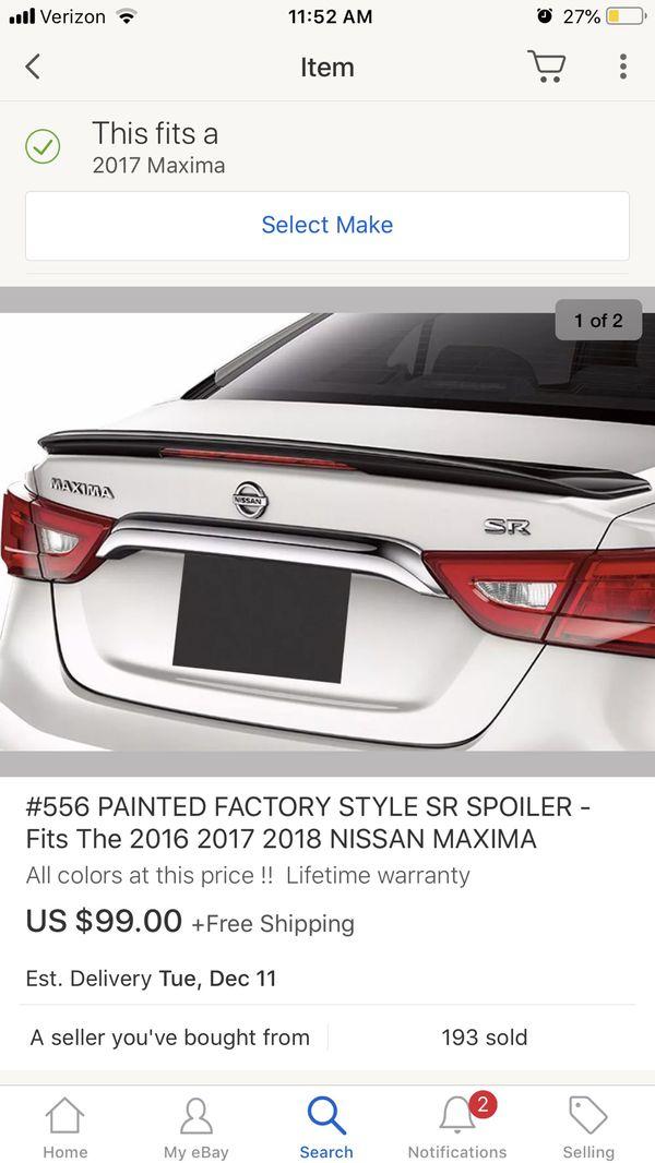 2016-2018 Nissan Maxima Gloss Black Spoiler