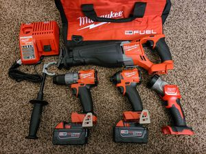 Milwaukee M18 FUEL 4-Tool Combo Kit for Sale in Modesto, CA