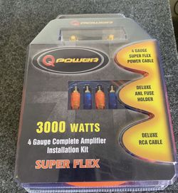 Q Power Car Audio . Car Stereo Amplifier Install Wire Kit . 3 Day Super Sale $69 While They Last . New for Sale in Mesa,  AZ