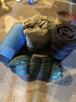 Sleeping bags gently used camping season is here for Sale in Bristol, CT