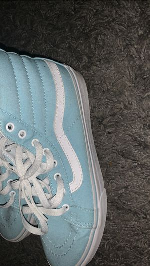 Light blue and white Vans for Sale in Santa Clara, CA