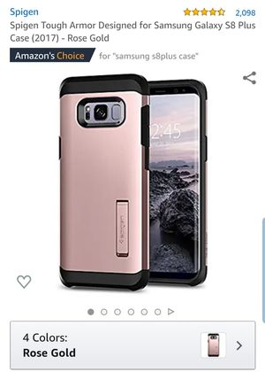 Samsung Galaxy S8 plus. SPIGEN for Sale in Corona, CA