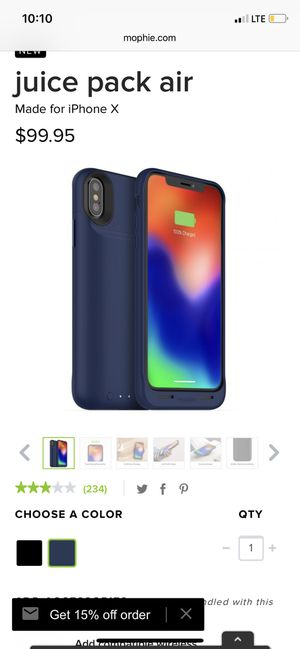Mophie charging case for iPhone X for Sale in Fremont, CA