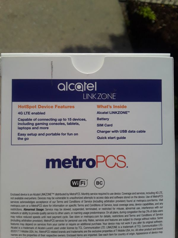 Alcatel Linkzone portable WiFi for Sale in Queens, NY - OfferUp