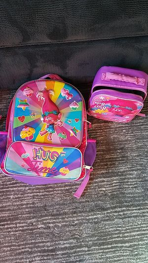 Trolls Backpack and Lunchbox for Sale in Gilbert, AZ