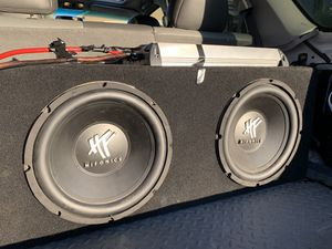 Hifonics 12s and 2 Channel Amp for Sale in Visalia, CA