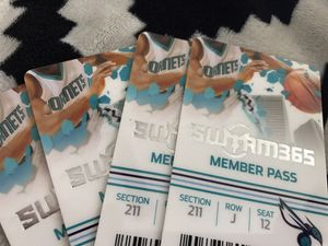 4 tickets for tonight's hornets game vs Utah jazz for Sale in Charlotte, NC