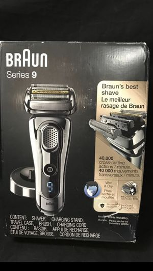 Braun Series 9 9293s Mens Electric Foil Shaver Wet & Dry Razor with Charging Stand and Travel Case. for Sale in Irvine, CA