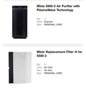 WINIX 5500-2 Air Purifier with Replacement Filter for Sale in West Covina, CA