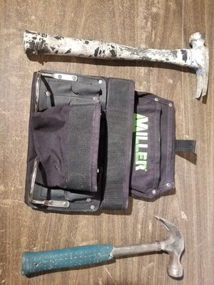 New tool belt and 2 old hammers for Sale in Westminster, CO