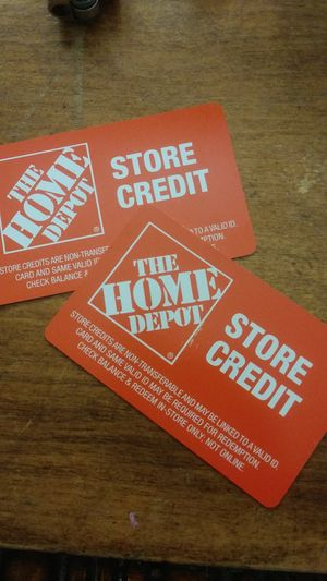 Home Depot store credit cards for Sale in Lubbock, TX