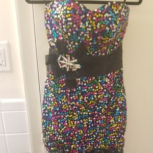 NWT Grace Karin sz 4 Colorful Sequin Formal Prom Bridesmaid Dress, Local Delivery Available for Sale in Baltimore, MD