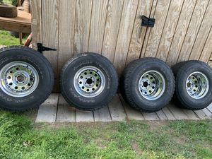 33s on deep dish chrome rims.. for Sale in Glocester, RI