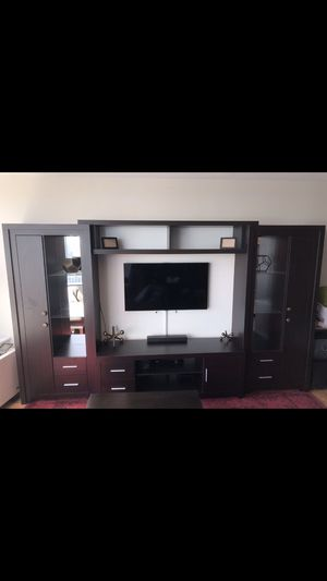 Chrystie entertainment center whenge matte for Sale in New York, NY