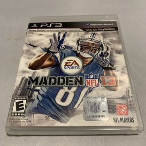 Madden NFL 13 For PlayStation 3 PS3 Complete CIB Video Game for Sale in Camp Hill, PA