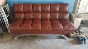 Leather futon for Sale in Brighton, CO