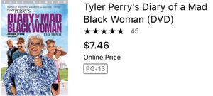 Tyler Perry's diary of a mad black women comedy movies funny cds dvds movies for Sale in Glendale, AZ
