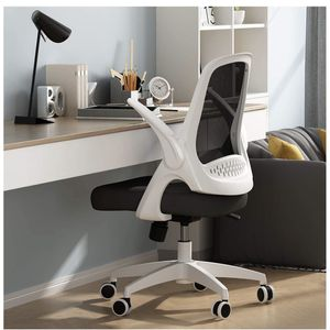 New— Hbada Office Task Desk Chair Swivel Home Comfort Chairs with Flip-up Arms and Adjustable Height, White for Sale in Glendale Heights, IL