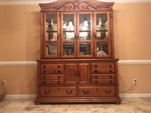 Oak wood china cabinet for Sale in Stone Mountain, GA