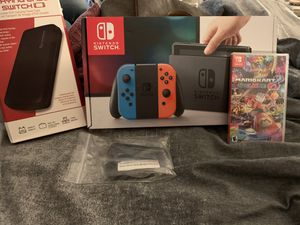 """Nintendo Switch """"New in Box"""" with Mario Kart 8 & Hard Shell Case for Sale in Wayne, NJ"""