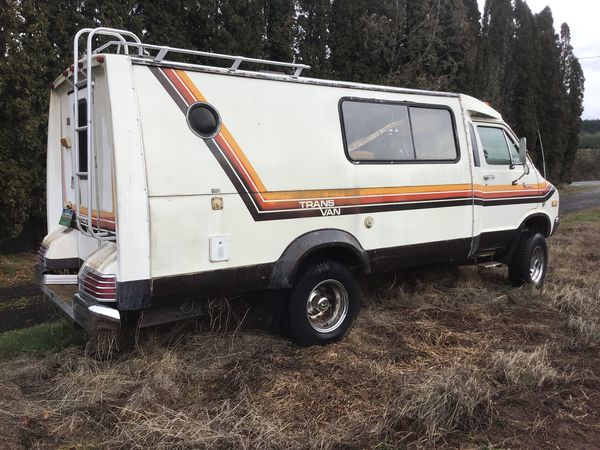 1979 trans van 4x4 runs and drives rare motor home for Sale in Molalla, OR  - OfferUp