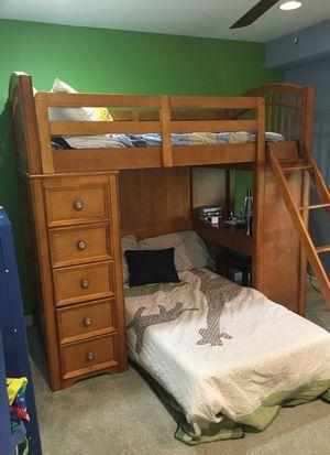 Beautiful wood bunk bed for Sale in Kirkland, WA