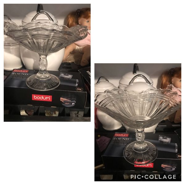 Elegant Vintage Square Glass Basket Dis- $10- Very Pretty No Chips or Cracks Walgreens Oakland Canada rd wolfchase Kirby whitten an