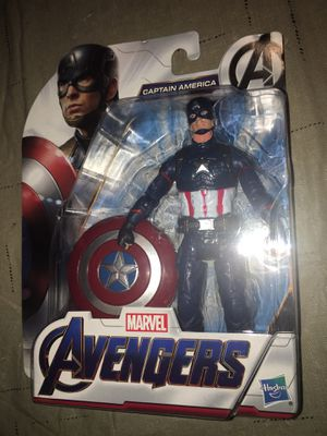 2018 Marvel Avengers Endgame Captain America 6'' Action Figure New HTF for Sale in Rochester Hills, MI