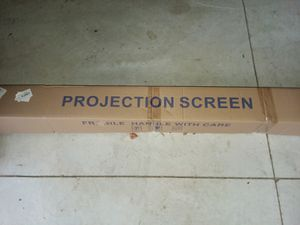 PROJECTION SCREEN WHITE 84 by 84 new in box. for Sale in Laingsburg, MI