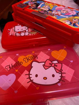 Hello kitty pencil boxes and sailor moon for Sale in Alhambra, CA