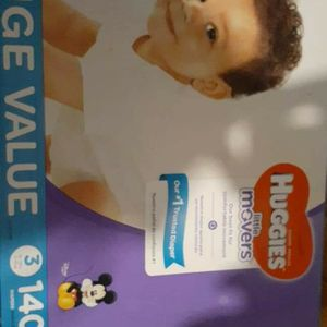 Huggies Size 3 140c for Sale in Fresno, CA