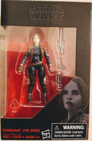New Star Wars Black Series Sgt Jyn 4 Inch Action Figure. for Sale in Apopka, FL