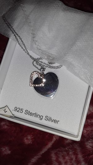 Silver heart necklace for Sale in Houston, TX