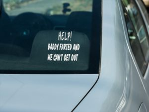 Help Daddy Farted and We Can't Get Out Window Decal for Sale in South Zanesville, OH