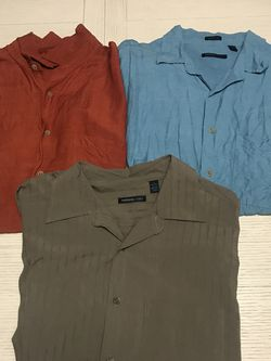 LOT OF 3 MENS SHORT SLEEVE BUTTON DOWN VAN HEUSEN SHIRTS SIZE L MEN'S for Sale in Wayne,  IL