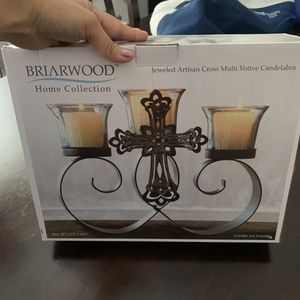 Votive Candle Holder w/ Cross for Sale in Claremont, CA