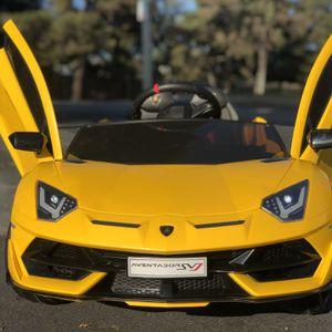 Kids Electric Ride on Car w/ Remote Lamborghini Aventador for Sale in West Covina, CA