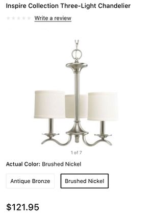 Inspire Collection Three-Light Chandelier for Sale in Spartanburg, SC