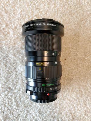 Canon FD 35-105mm f3.5 Macro Camera Lens for Sale in Everett, WA
