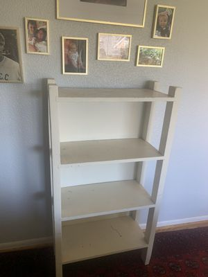1940's Vintage wood bookcase white wood bookshelf for Sale in Renton, WA