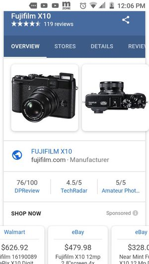 Fujifilm X10 12 MP EXR CMOS Digital Camera with f2.0-f2.8 4x Optical Zoom Lens and 2.8-Inch LCD for Sale in Decatur, GA