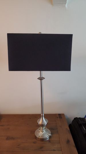 Tall Metal Lamp With Black Square Shade for Sale in Miami Beach, FL